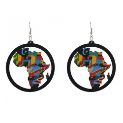 African Flags Earrings