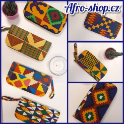 African Print zipper wallet