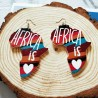 Earrings: Africa Love