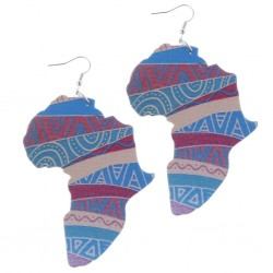 Earrings: Africa Print