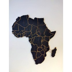 Wooden Africa on the wall