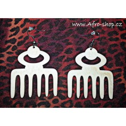 Wooden earrings afrocomb
