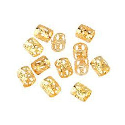 Golden hair beads 20 pcs